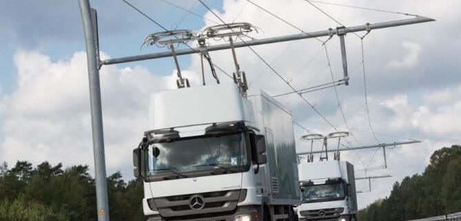 carretera electrificada para camiones