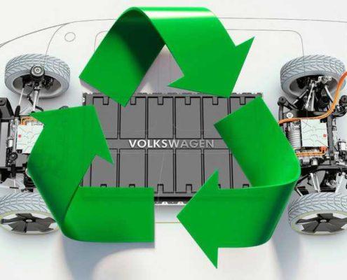 volkswagen recicla baterías