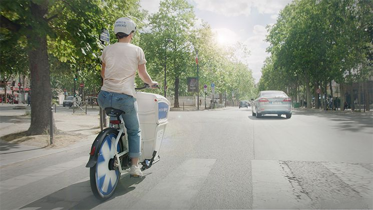 Bicicleta ambulancia en París