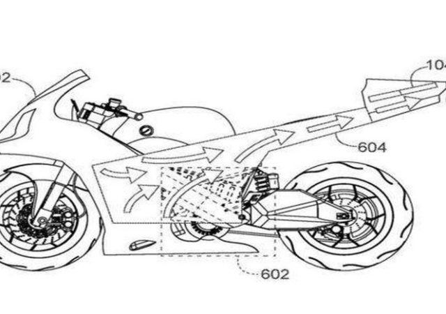 Honda patenta una motocicleta eléctrica con un dron incorporado