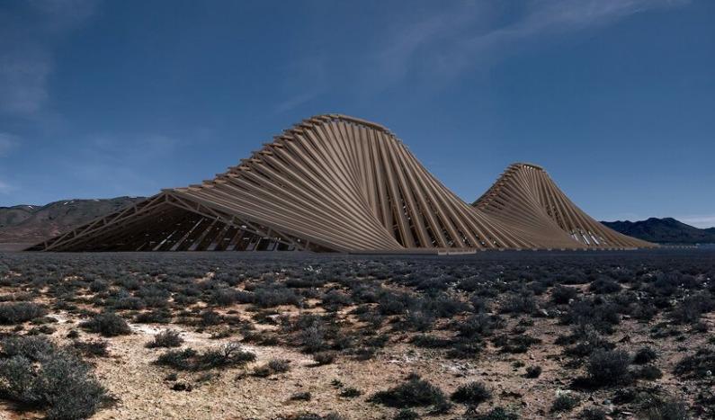 """Solar Mountain"", una estructura moderna construida con madera reciclada"