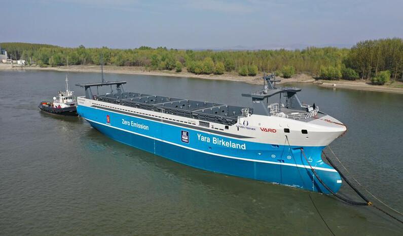 buque portacontenedores eléctrico