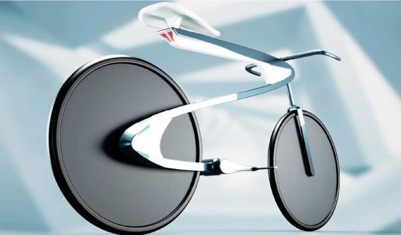 bicicleta eléctrica aerodinámica