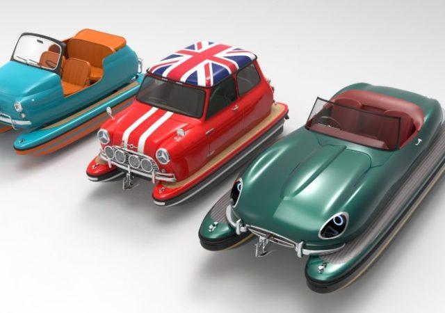 Carrera loca en el mar Floating Motors quiere crear lanchas rápidas con forma de autos clásicos.