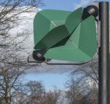 poste de luz de energía eólica